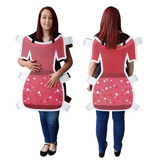 Life-size Dress Paper Doll Costume Cardboard Standup
