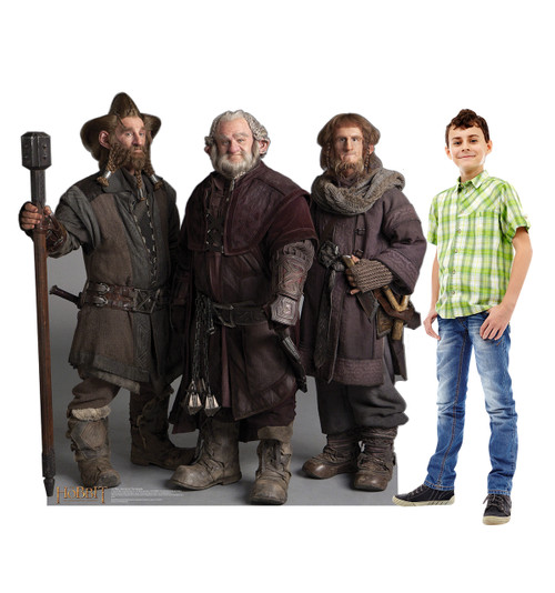 Life-size Nori, Dori, Ori The Dwarfs - The Hobbit Cardboard Standup