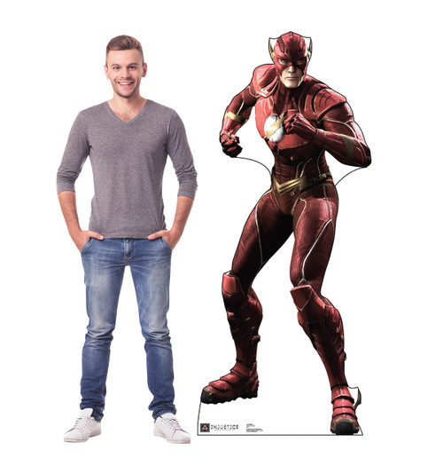 Life-size Flash - Injustice Gods Among Us Cardboard Standup