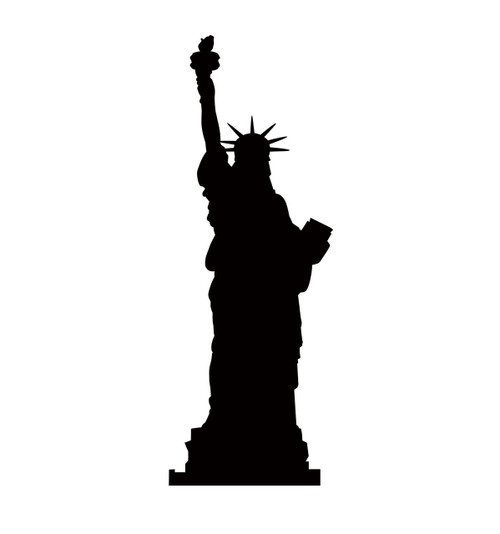 Life-size Statue Of Liberty Silhouette Cardboard Standup