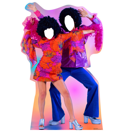 70's Disco Dance Couple Standin Front View