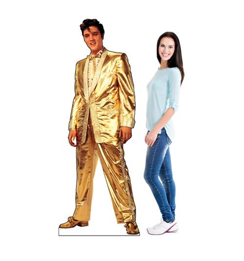 Life-size Elvis Presley Gold - Talking Cardboard Standup