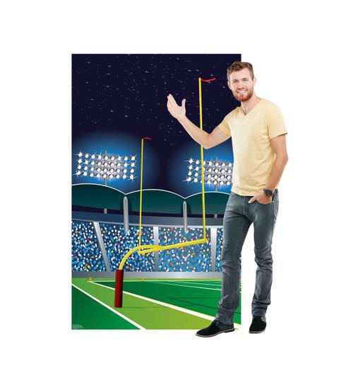 Life-size Football Goal Post Cardboard Standup 2