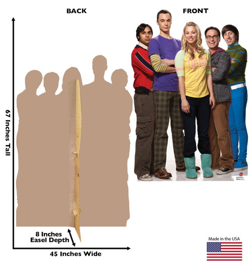 Life-size Big Bang Theory Group Cardboard Standup