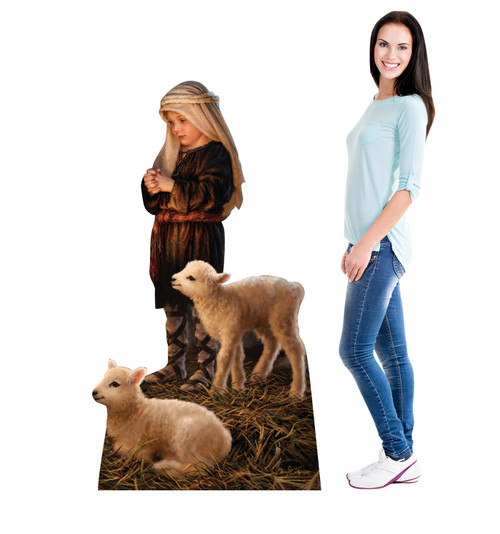 Shepherd Boy  Cardboard Cutout - Illustrated by Dona Gelsinger 2183