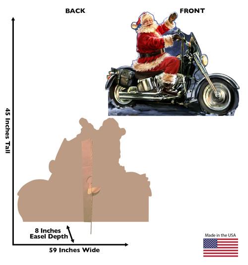 Santa Motorcycle - Dona Gelsinger - Cardboard Cutout