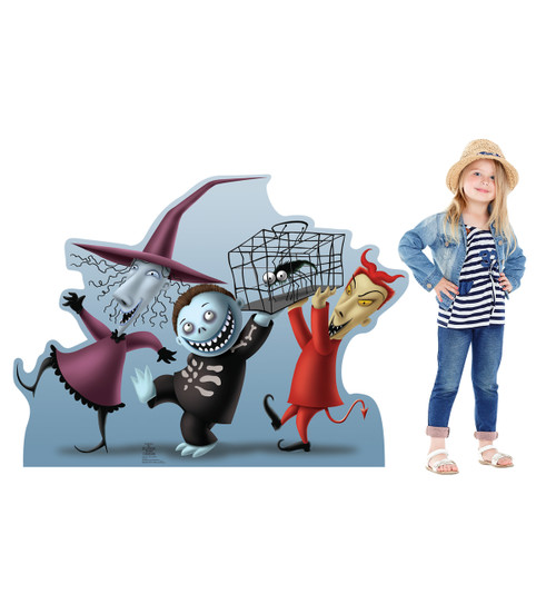 Lock, Shock & Barrel Nightmare Before Christmas - Cardboard Cutout 730