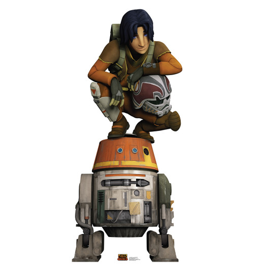 Life-size Ezra and Chopper - Star Wars Rebels Cardboard Standup