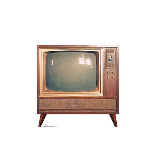Vintage TV - Cardboard Cutout