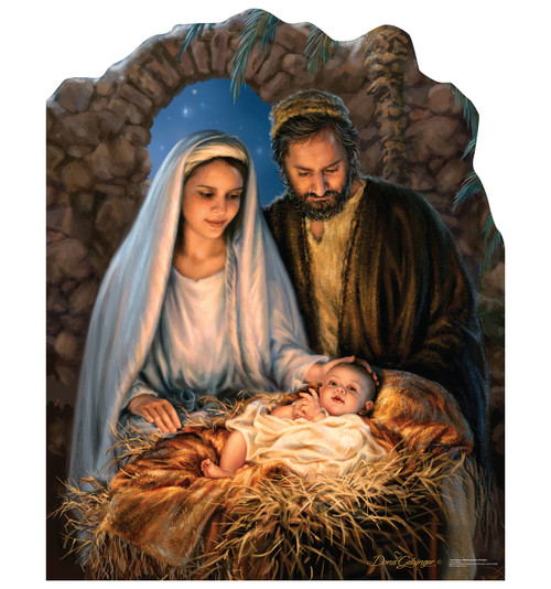 Life-size Christmas Nativity Cardboard Standup - Illustrated by Dona Gelsinger Cardboard Standup