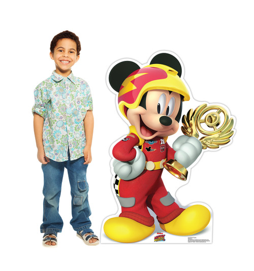 Life-size Mickey Trophy (Disney's Roadster Racers) Cardboard Standup 2