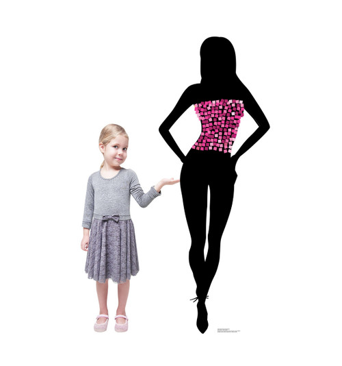 Life-size Silhouette Dancer Pink Sparkles Cardboard Standup 2