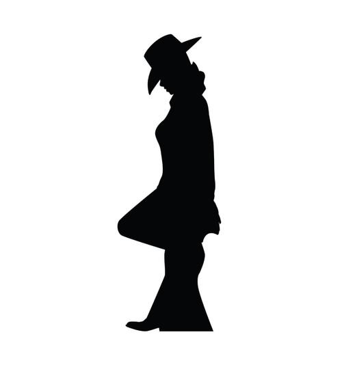 Cowgirl Silhouette - Cardboard Cutout 2318
