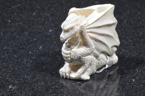 Carved fossilize ivory dragon