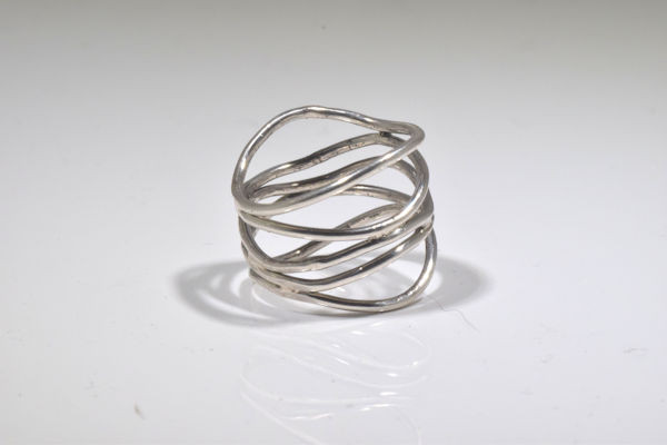 Sterling Silver Open Wire Ring