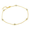 4MM BEZEL CZ GOLD PLATED BY THE YARD ANKLET 9.5+1""