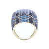 MULTICOLOR MICRO PAVE CZ GOLD PLATED COCKTAIL RING