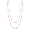 ROSE GOLD 5MM  DIAMOND CZ BY THE YARD NECKLACE 36""