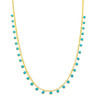 Stylish and dainty turquoise charm necklace. This is perfect for everyday wear, layering, or gift giving.