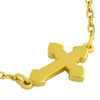 """GOLD PLATED SMALL SHINY CROSS NECKLACE 16"""" + 2"""""""