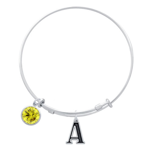 EXPANDABLE INITIAL BANGLE WITH NOVEMBER CHARM (AMAZON)