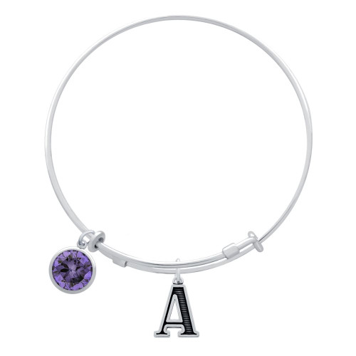 EXPANDABLE INITIAL BANGLE WITH JUNE CHARM (AMAZON)