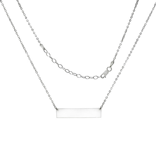 STERLING SILVER ID BAR NECKLACE