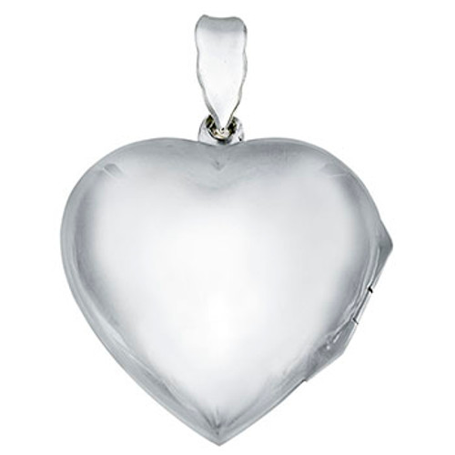 STERLING SILVER PLAIN HEART LOCKET PENDANT