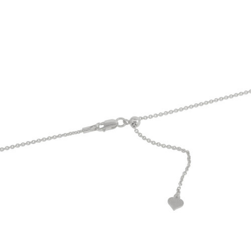 "ADJUSTABLE RHODIUM PLATED ROLLO LINK CHAIN (1.0MM)  14"" TO 24"""