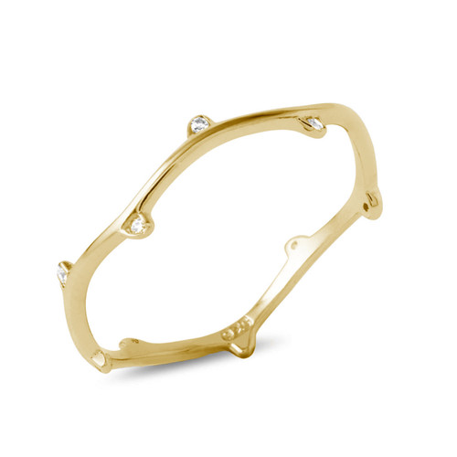 GOLD PLATED CZ VINE RING