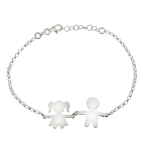 STERLING SILVER ENGRAVEABLE BOY GIRL BRACELET