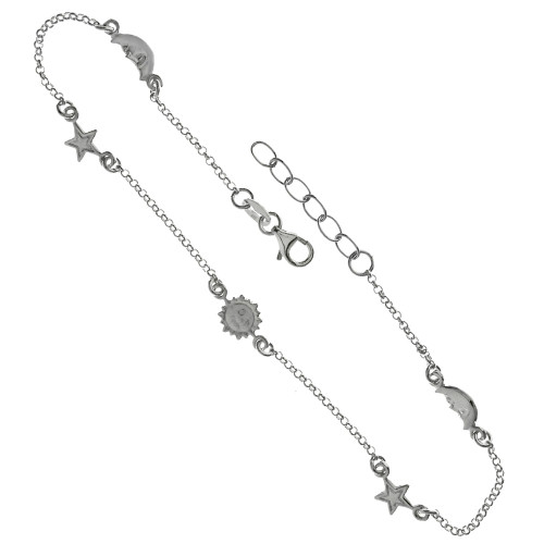 ROLO SUN MOON STAR ADJUSTABLE ANKLET