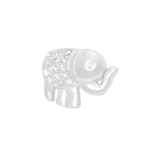ELEPHANT SHAPED CZ STUD 110x83MM EARRINGS