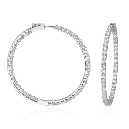 37MM INSIDE OUT PRONG  SET RHODIUM CZ  HOOPS