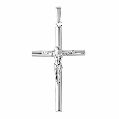 STERLING SILVER HIGH POLISHED CYLINDER CROSS PEND