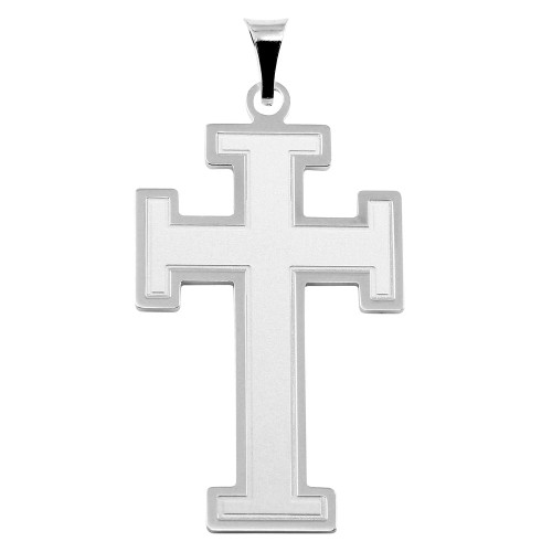 STERLING SILVER HIGH POLISHED CROSS PENDANT