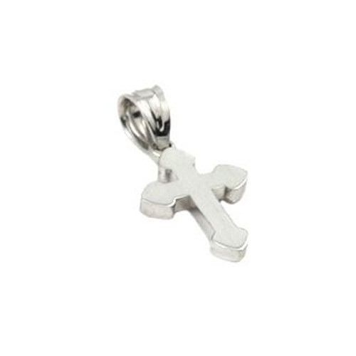 RHODIUM PLATED SMALL CROSS PENDANT