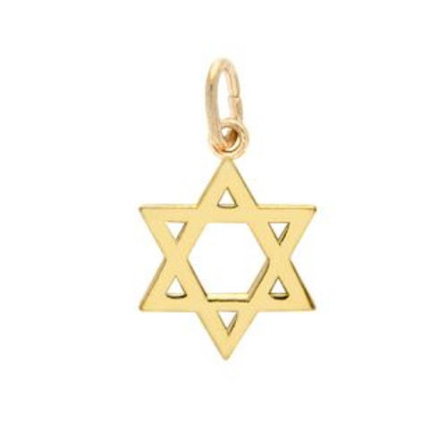 GOLD PLATED HIGH POLISHED STAR OF DAVID CHARM