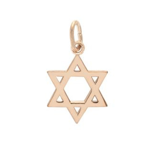 ROSE GOLD PLATED HIGH POLISHED STAR OF DAVID CHARM