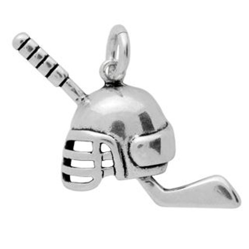 ICE HOCKEY STICK AND HELMET CHARM