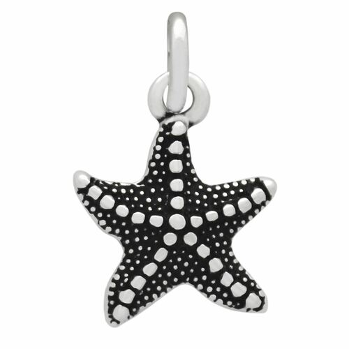 12MM SILVER STARFISH CHARM