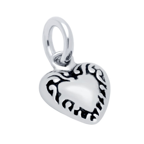 SMALL 9MM HEART CHARM