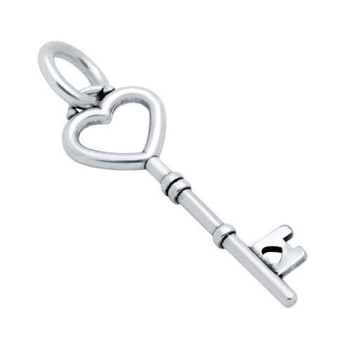 25MM HEART KEY CHARM