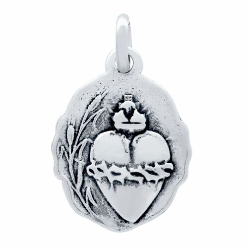 DOUBLE-SIDED SACRED HEART AND MILAGROSA MEDALLION CHARM