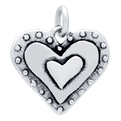 "DOUBLE-SIDED  ""YOU ONLY LOVE ONCE"" HEART CHARM"