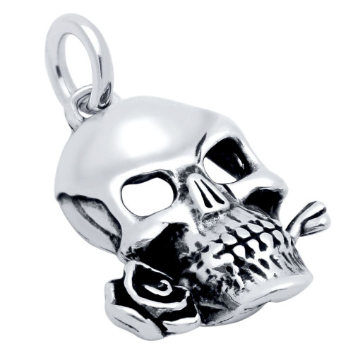 SKULL AND ROSE CHARM