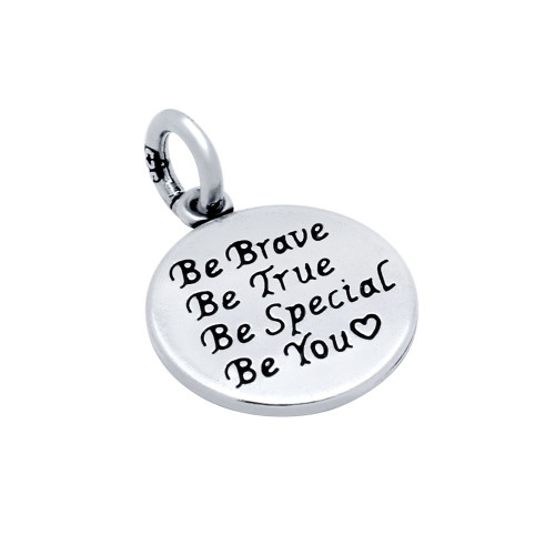"""14MM """"BE YOU ♥"""" ROUND CHARM"""
