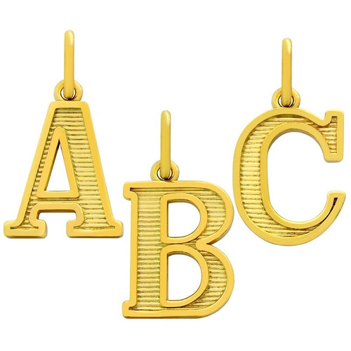 GOLD PLATED UPPERCASE INITIALS CHARM