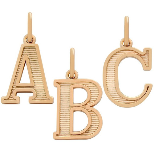 ROSE GOLD PLATED UPPERCASE INITIALS CHARM