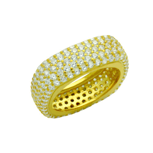 GOLD PLATED CZ PAVE RING